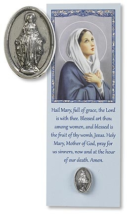 12 Pk Our Lady of Grace Lapel Pin with Bookmark