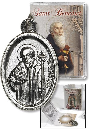 St. Benedict Medal with Folder