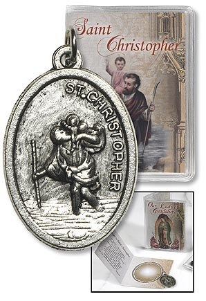 St. Christopher Medal with Folder
