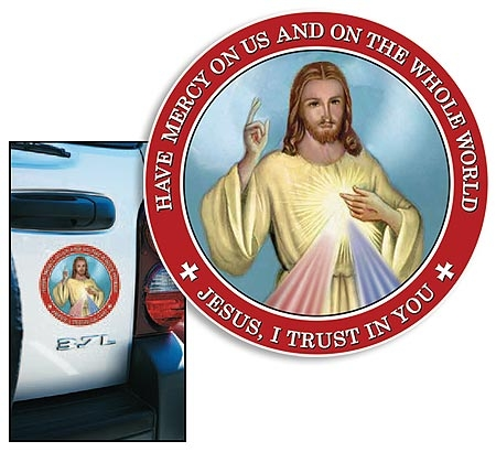 24 pack Divine Mercy Auto Magnet