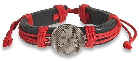 Sacred Heart Leather Bracelet