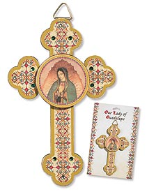 3D Our Lady of Guadalupe Wood Cross