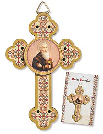 3D St. Benedict Wall Cross