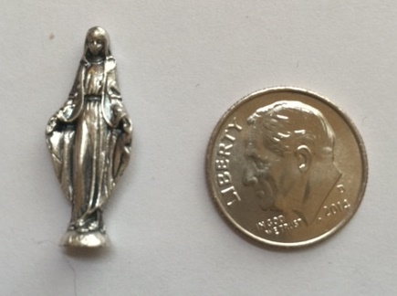 Our Lady of Grace tiny pocket statue