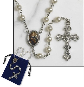St. Gerard rosary with free gift pouch
