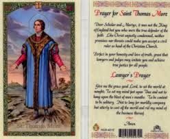 St. Thomas More(Lawyers), laminated holy card