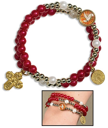 Confirmation Wrap Rosary Bracelet