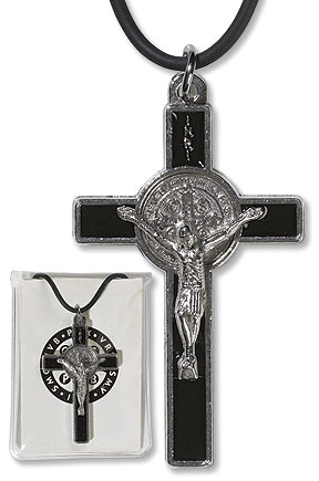 St. Benedict Crucifix Pendant with Prayer Card 12 pack