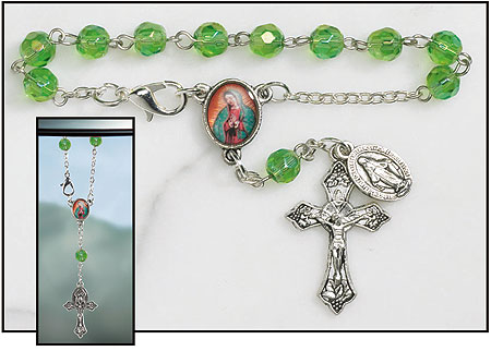 Our Lady of Guadalupe Rearview Mirror Rosary
