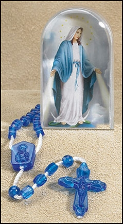 Our Lady of Grace Devotional Rosary with Case