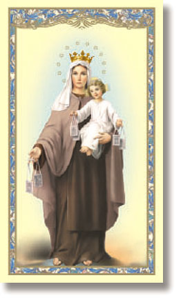 Our Lady of Mt. Carmel paper holy card
