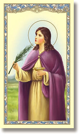 St. Lucy paper holy card