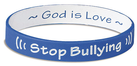 Stop Bullying, God is Love wristband