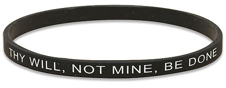 Thy Will Not Mine Be Done Faith Bracelet