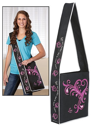 Love One Another Messenger Tote Bag