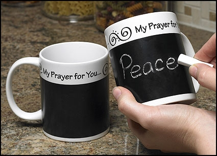 Prayer Chalk Board Coffee Mug