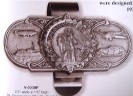 St. Christopher my guide visor clip