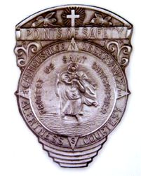 St. Christopher and Compass Visor