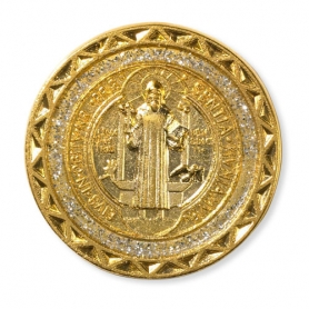 Gold Tone St. Benedict Pocket Coins
