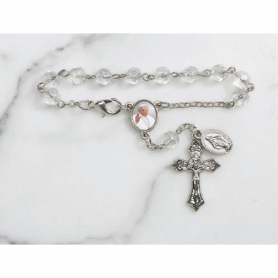 Pope Francis Faceted Glass Auto Rosary
