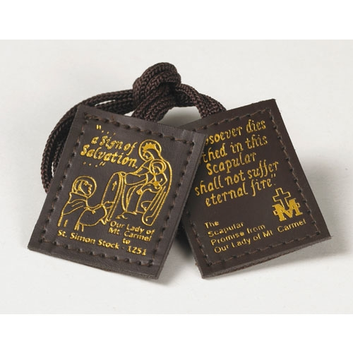 Durable Leather Brown Scapular