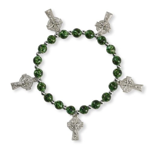 Celtic Crucifix Stretch Bracelet
