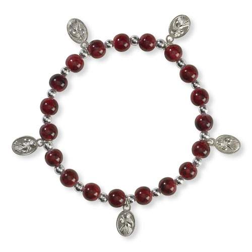Divine Mercy Stretch Charm Bracelet