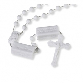 NEW: White Mysteries Cord Rosary