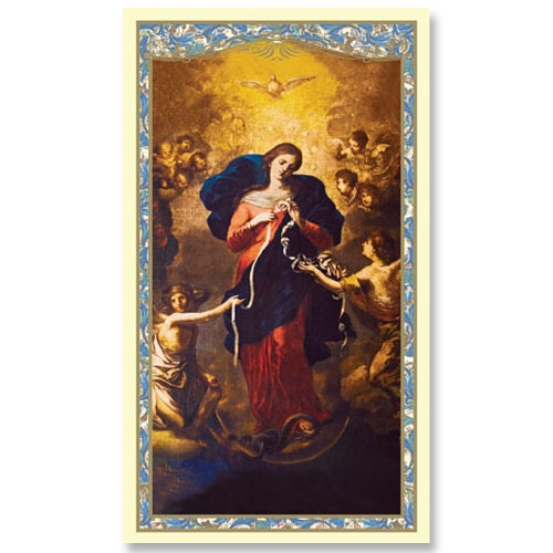 Mary Untier of Knots Holy Card