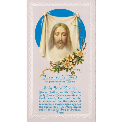 Value Priced Veronicas Veil Paper Holy Card
