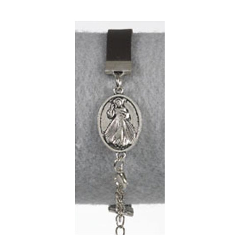 Divine Mercy Leather Bracelet