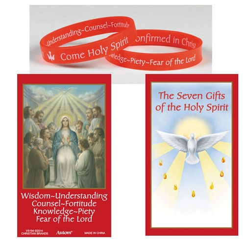 Silicone Gifts of the Holy Spirit Bracelet with Card 24 Pack