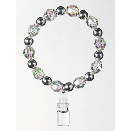 Crystal Bead Holy Water Bottle Bracelet - limit one per order!