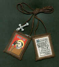 New - St. Padre Pio Brown Scapular