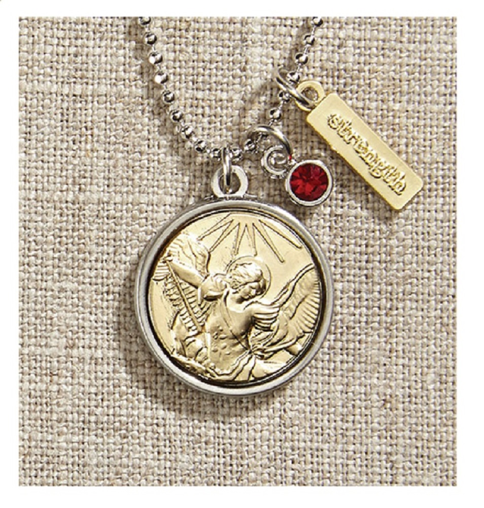 Vintage Blessings St. Medal Necklace With Gold Chain