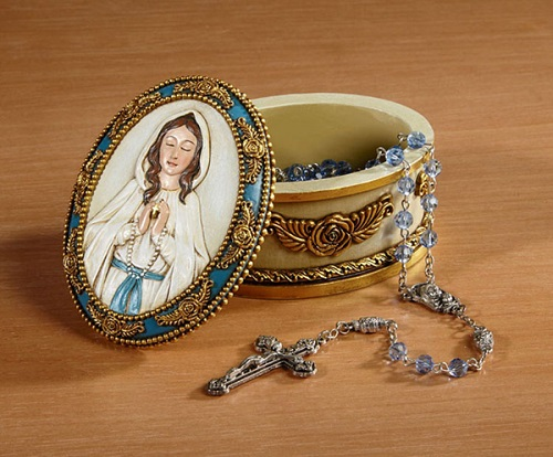 Our Lady of Grace Rosary Box