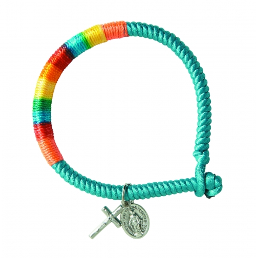 Multi-Color Wrapped Cord Miraculous Bracelet  - limit one per order