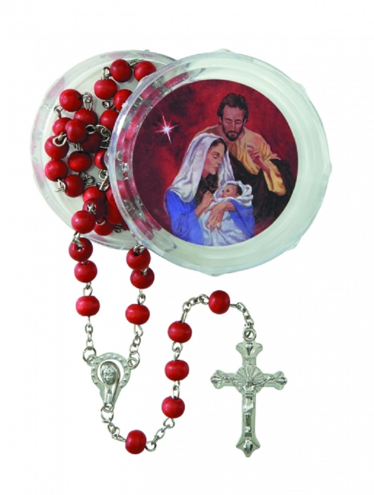 Christmas Nativity Rosary with 2  Piece Case