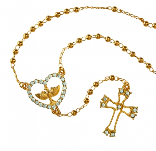 Holy Spirit Rosary Necklace