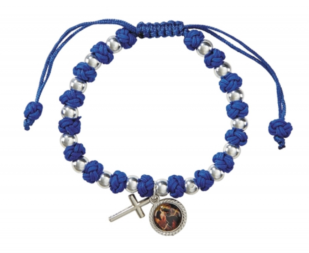Mary Untier of Knots Corded bracelet  (Undoer of Knots)