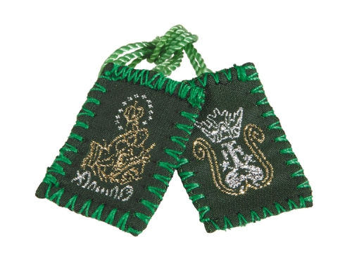 Embroidered Green Scapular