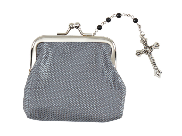 Silver Clasp Rosary Case