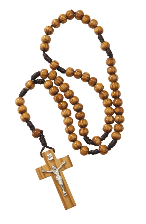 12 pack 6mm Wood Cord Rosary