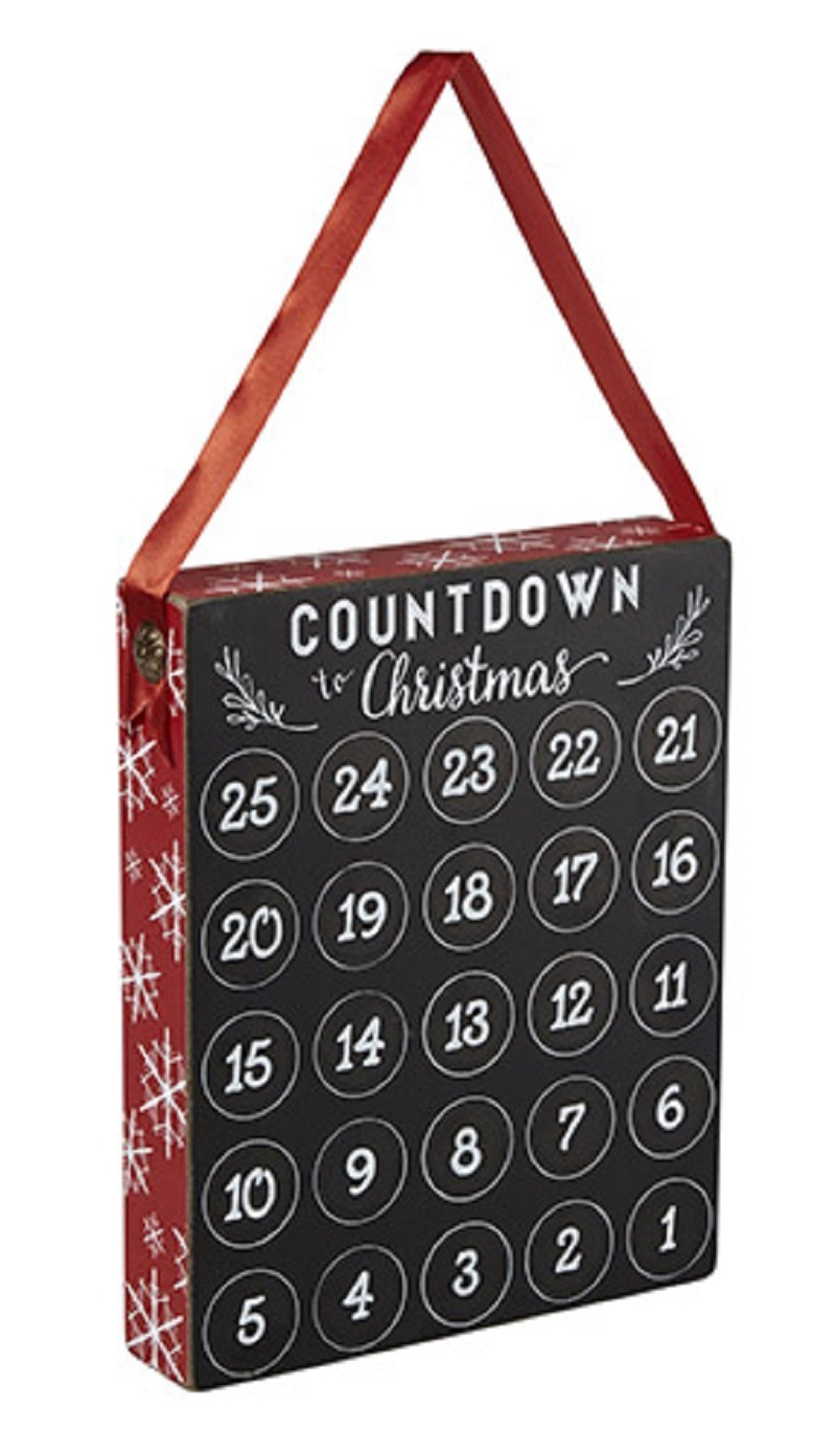 Countdown to Jesus Birthday Wood Counter with Chalk