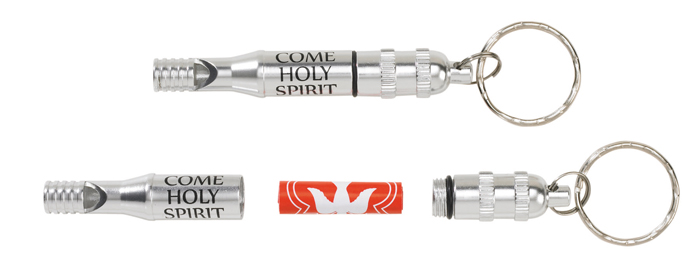 Come Holy Spirit Confirmation Whistle Key Chain
