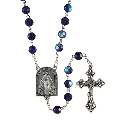 Sapphire Mysteries rosary