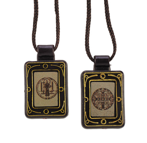 St. Benedict Moulded Scapular (just a few left in stock!)