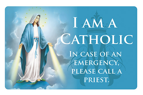 Immaculate Heart Catholic ID card