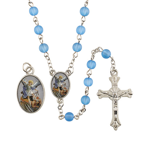 St. Michael Medal and Rosary Set