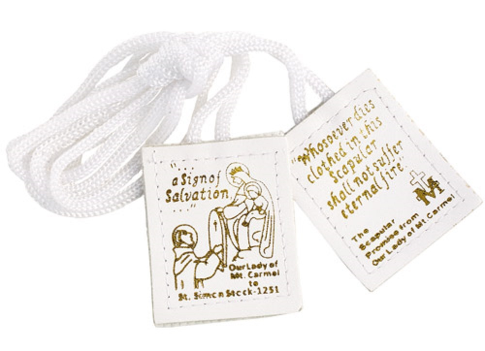 White Leather Scapular